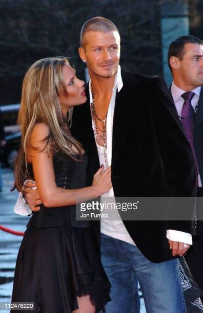 Victoria Beckham and David Beckham during 19 Management Party At The Royal Albert Hall Arrivals at The Royal Albert Hall in London Great Britain