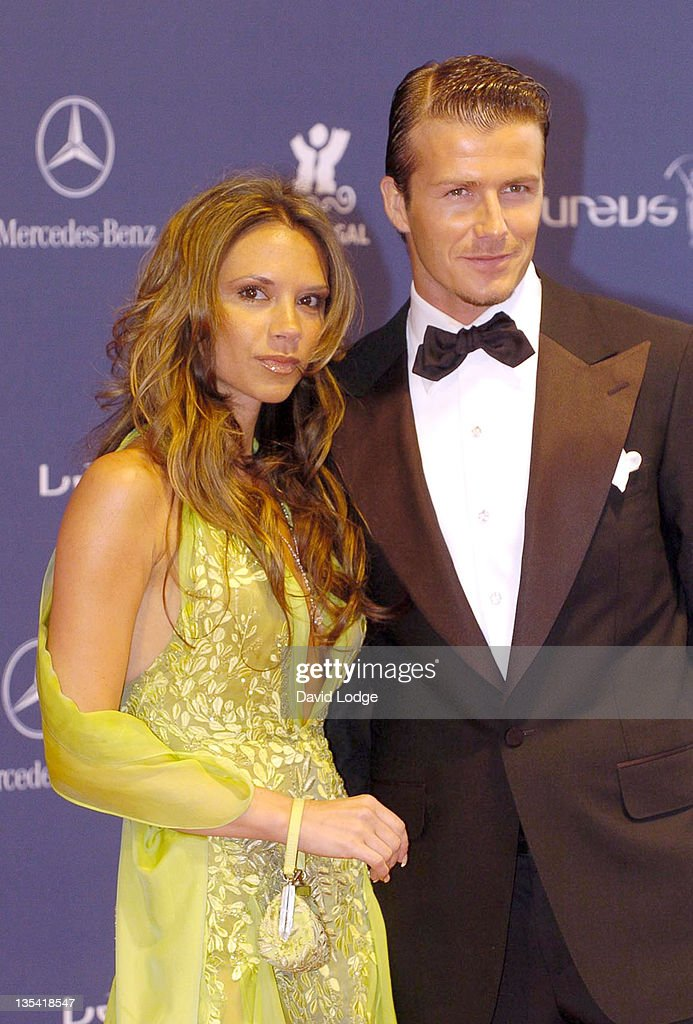 Victoria Beckham and David Beckham during 2005 Laureus Sports Awards - Arrivals at Casino Estoril in Estoril, Portugal.