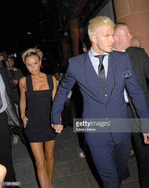 Victoria Beckham and David Beckham during David Beckham's 32nd Birthday Party at Cipriani's in London May 2 2007 at Cipriani Reaturant in London...