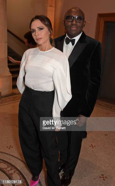 Victoria Beckham and Edward Enninful attend The Portrait Gala 2019 hosted by Dr Nicholas Cullinan and Edward Enninful to raise funds for the National...