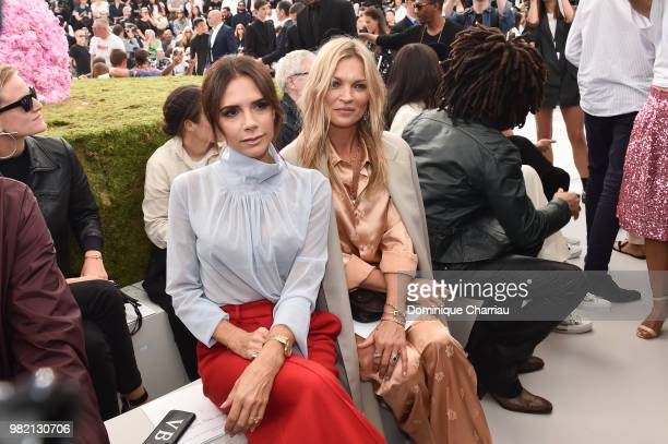 Victoria Beckham and Kate Moss attend the Dior Homme Menswear Spring/Summer 2019 show as part of Paris Fashion Week on June 23 2018 in Paris France