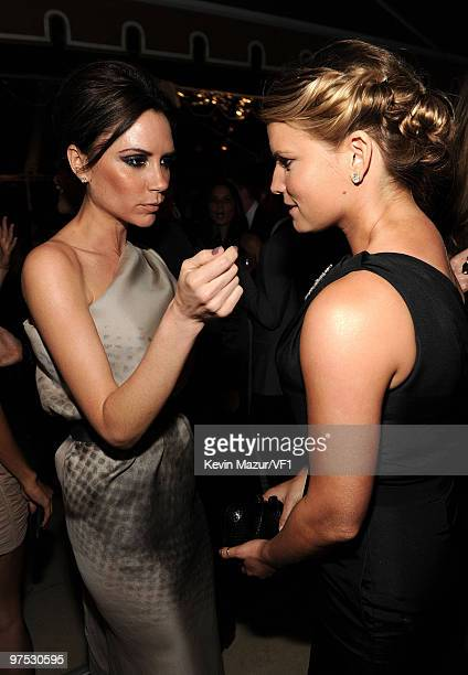 Victoria Beckham and Singer Jessica Simpson attend the 2010 Vanity Fair Oscar Party hosted by Graydon Carter at the Sunset Tower Hotel on March 7,...