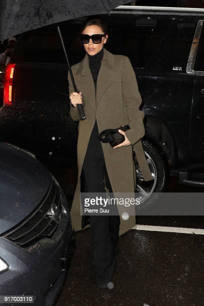 Victoria Beckham arrives at Balthazar restaurant on February 11 2018 in New York City