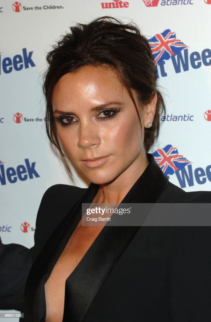 Victoria Beckham arrives at BritWeek's Save The Children And Virgin Unite Charity Event at the Beverly Wilshire hotel on April 22, 2010 in Beverly Hills, California.