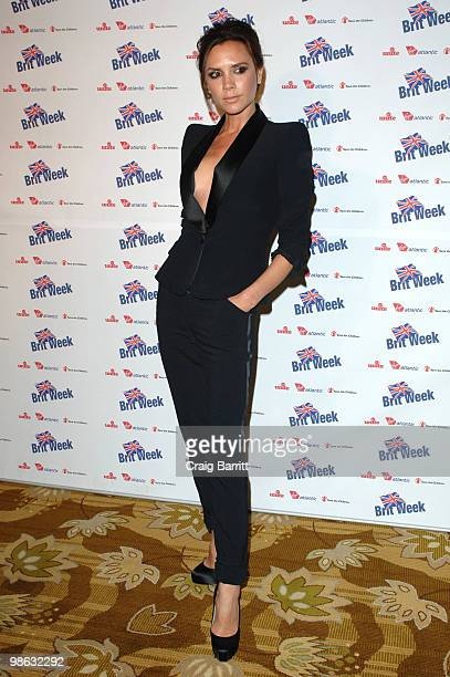 Victoria Beckham arrives at BritWeek's Save The Children And Virgin Unite Charity Event at the Beverly Wilshire hotel on April 22 2010 in Beverly...