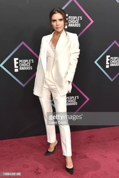 Victoria Beckham arrives at E People's Choice Awards at Barker Hangar on November 11 2018 in Santa Monica California