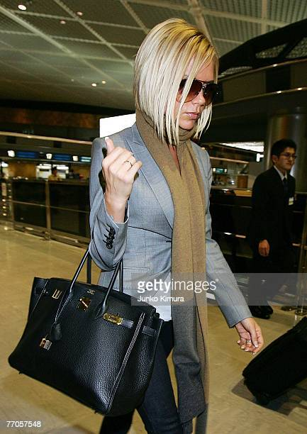 Victoria Beckham arrives at New Tokyo International Airport on September 27, 2007 in Narita, Japan. Victoria is travelling back to London following...