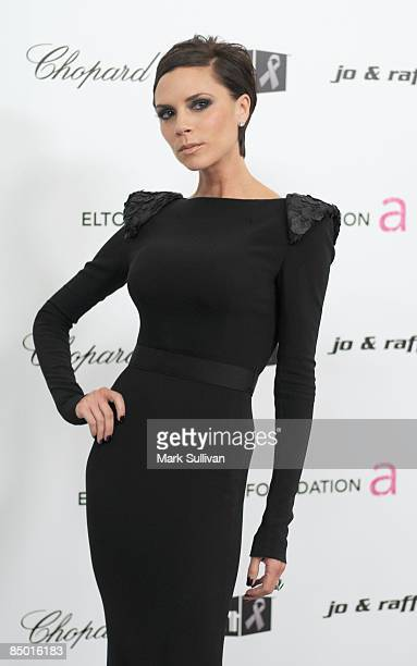 Victoria Beckham arrives at the 17th Annual Elton John AIDS Foundation's Academy Award Viewing Party held at the Pacific Design Center on February...