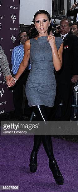 Victoria Beckham arrives at the Beckham Signature fragrance launch at Macy's Herald Square on September 26 2008 in New York City