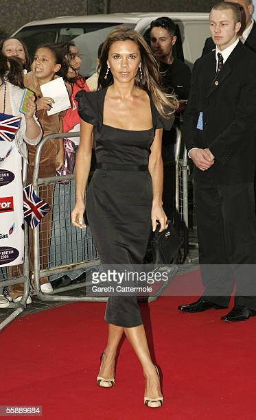 Victoria Beckham arrives at the Daily Mirror's Pride Of Britain Awards at ITV Centre on October 10 2005 in London England The annual readernominated...