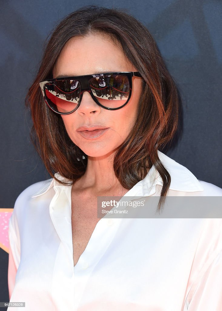 Victoria Beckham arrives at the Eva Longoria's Hollywood Star Ceremony Post-Luncheon on April 16, 2018 in Beverly Hills, California.