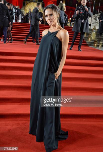 Victoria Beckham arrives at The Fashion Awards 2018 in partnership with Swarovski at the Royal Albert Hall on December 10 2018 in London England