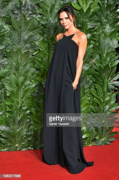 Victoria Beckham arrives at The Fashion Awards 2018 In Partnership With Swarovski at Royal Albert Hall on December 10 2018 in London England