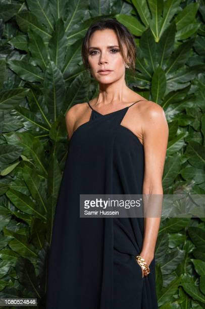 Victoria Beckham arrives at The Fashion Awards 2018 In Partnership With Swarovski at Royal Albert Hall on December 10, 2018 in London, England.