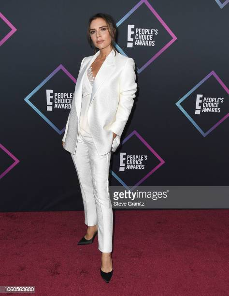 Victoria Beckham arrives at the People's Choice Awards 2018 at Barker Hangar on November 11 2018 in Santa Monica California