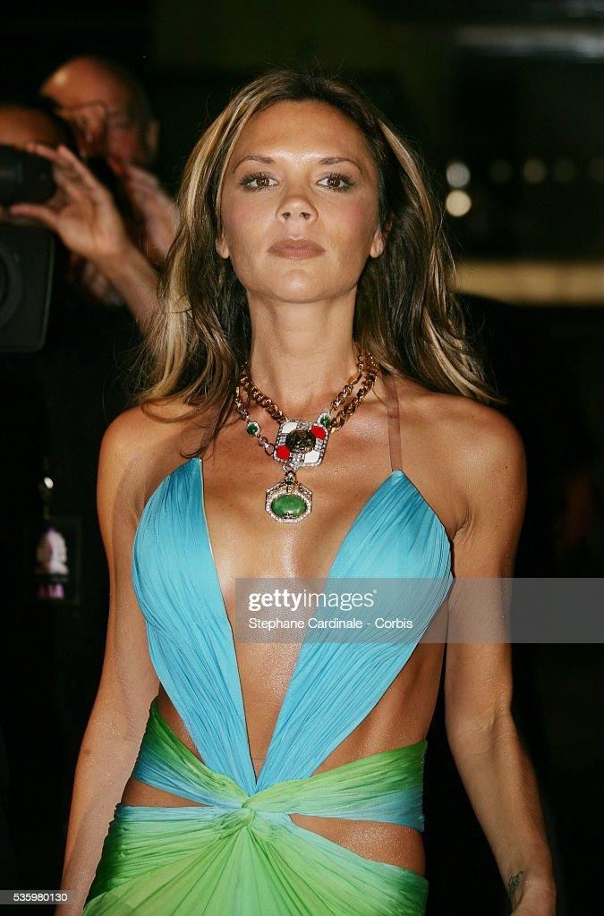 Victoria Beckham arrives at the Swarovski Fashion Rocks gala held in Monaco.