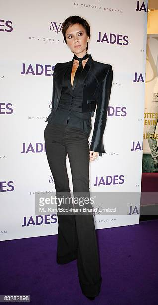 Victoria Beckham arrives for the launch of her A/W 08 dVb denim collection at Jades boutique on October 15, 2008 in Dusseldorf, Germany.
