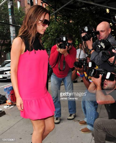 Victoria Beckham arrives to Balenciaga on September 11, 2011 in New York City.