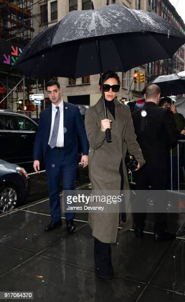 Victoria Beckham arrives to Balthazar on February 11 2018 in New York City