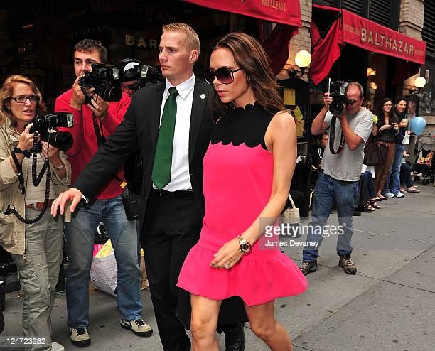 Victoria Beckham arrives to Balthazar Restaurant on September 11, 2011 in New York City.