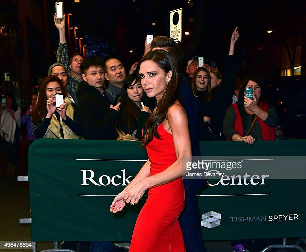 Victoria Beckham arrives to the 2015 Glamour Women of The Year Awards dinner at The Rainbow Room on November 9 2015 in New York City