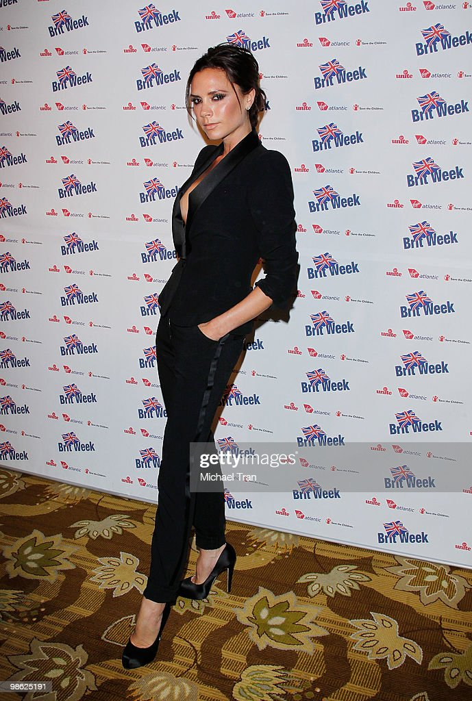 Victoria Beckham arrives to the BritWeek 2010 charity event: 'Save The Children And Virgin Unite' held at the Beverly Wilshire hotel on April 22, 2010 in Beverly Hills, California.