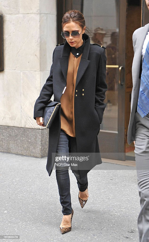 Victoria Beckham as seen on February 12, 2013 in New York City.