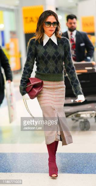 Victoria Beckham at JFK Airport on November 05 2019 in New York City