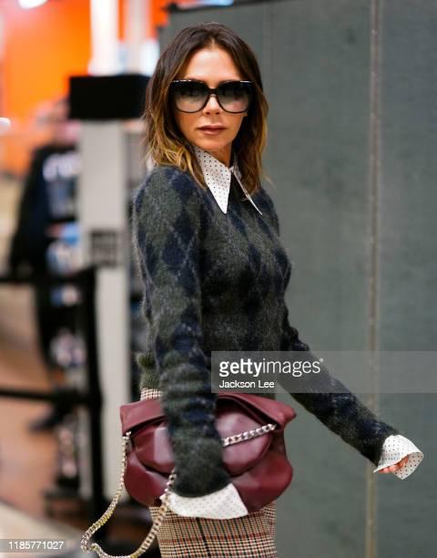 Victoria Beckham at JFK Airport on November 05, 2019 in New York City.