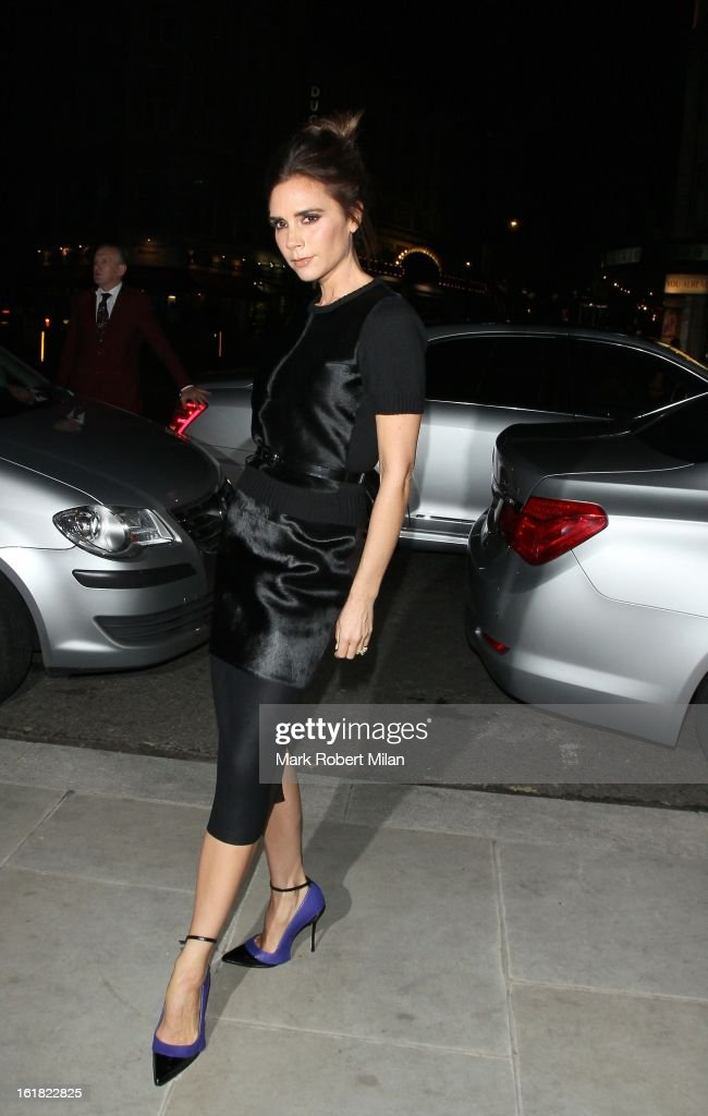Victoria Beckham at the ME hotel on February 16, 2013 in London, England.