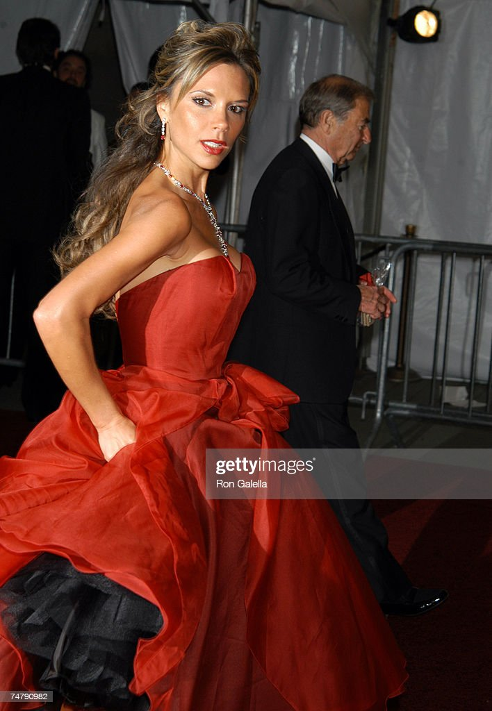 """Victoria Beckham - Anglomania: Here is what I consider a rare photo of Victoria. Rather that capturing her usual pout, her face has changed to a slight smile as she catches a glimpse of the photographers' gallery."" - Ron Galella 