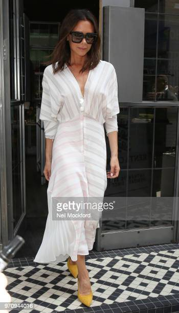 Victoria Beckham attending the Kent Curwen presentation during LFWM June 2018 on June 10 2018 in London England