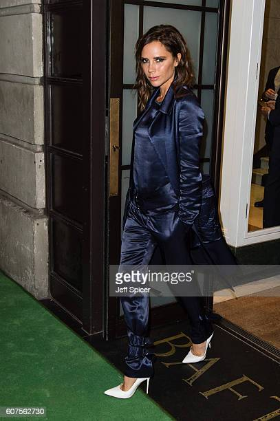 Victoria Beckham attends A Green Carpet Challenge BAFTA Night during London Fashion Week Spring/Summer collections 2017 on September 18 2016 in...