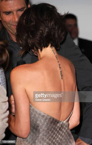 Victoria Beckham attends A Night Of Fashion Technology With LG Mobile Phones Hosted By Victoria Beckham Eva Longoria at Soho House on May 24 2010 in...