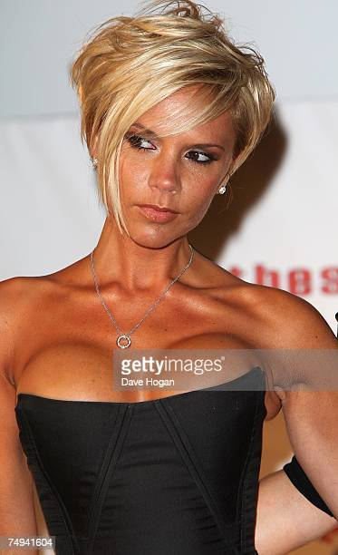 Victoria Beckham attends a press conference to announce the Spice Girls' forthcoming world tour at the O2 Arena, Greenwich on June 28, 2007 in...