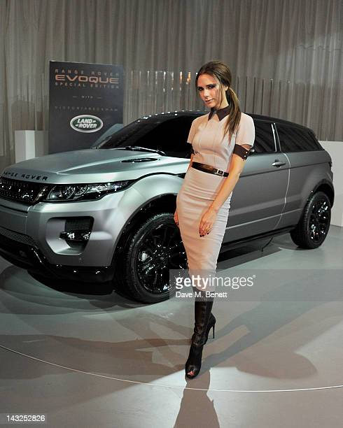Victoria Beckham attends an afternoon Tea Party as Land Rover launch the Range Rover Evoque Special Edition with Victoria Beckham at the Central...