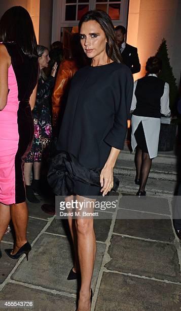 Victoria Beckham attends as Ambassador Barzun Mrs Brooke Barzun and Alexandra Shulman celebrate London Fashion Week at Winfield House in association...