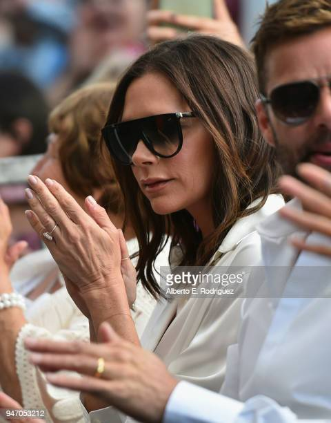 Victoria Beckham attends as Eva Longoria is honored with star on The Hollywood Walk of Fame on April 16 2018 in Hollywood California