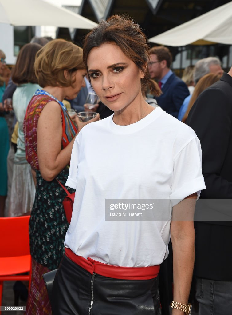 Victoria Beckham attends British Vogue editor Alexandra Shulman's leaving party at Dock Kitchen on June 22, 2017 in London, England.