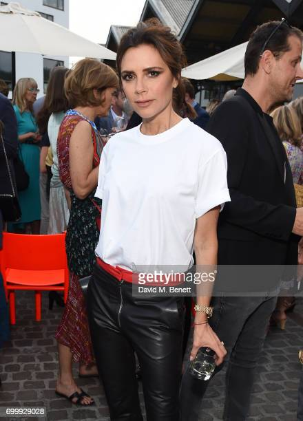 Victoria Beckham attends British Vogue editor Alexandra Shulman's leaving party at Dock Kitchen on June 22 2017 in London England