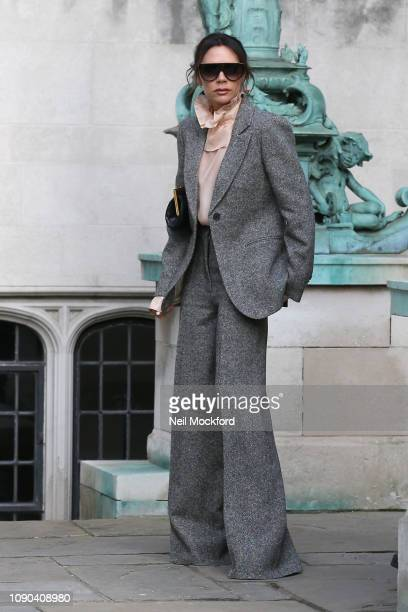 Victoria Beckham attends Kent & Curwen at Temple Place during LFWM January 2019 on January 06, 2019 in London, England.