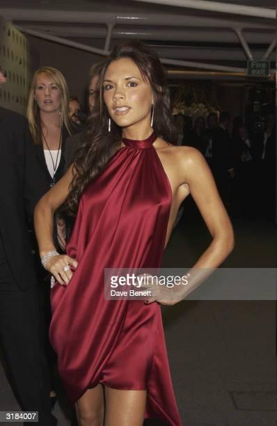 Victoria Beckham attends the 2003 Lycra British Style Awards at Old Billinsgate Market on September 26 2003 in London
