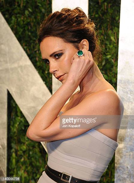 Victoria Beckham attends the 2012 Vanity Fair Oscar Party at Sunset Tower on February 26, 2012 in West Hollywood, California.