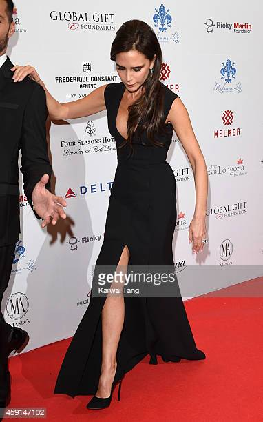 Victoria Beckham attends the 5th Global Gift Gala hosted by honorary chair Eva Longoria at the Four Seasons Hotel on November 17 2014 in London...