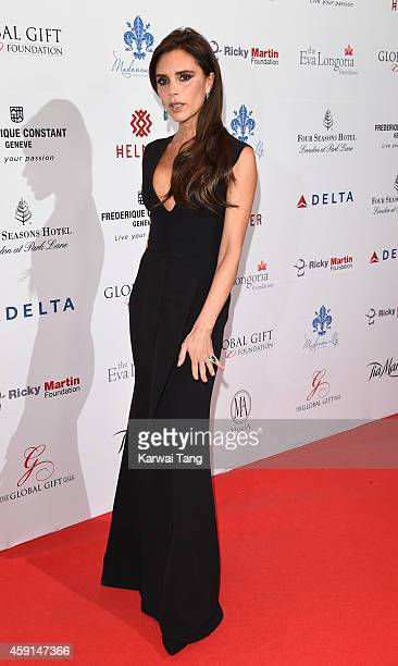 Victoria Beckham attends the 5th Global Gift Gala hosted by honorary chair Eva Longoria at the Four Seasons Hotel on November 17, 2014 in London,...