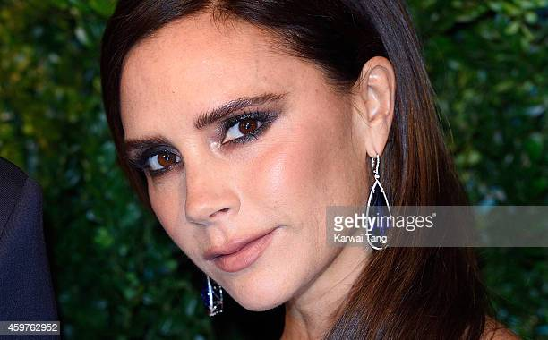 Victoria Beckham attends the 60th London Evening Standard Theatre Awards at London Palladium on November 30 2014 in London England