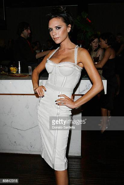 Victoria Beckham attends the Allure Magazine Cover Party for Eva Longoria on November 18, 2008 in Hollywood California.