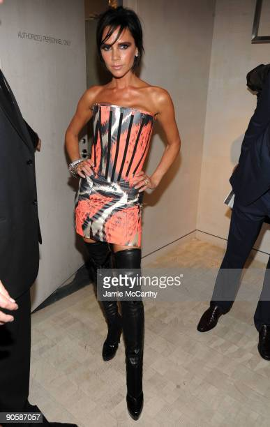 Victoria Beckham attends the Bergdorf Goodman celebration of Fashion's Night Out at Bergdorf Goodman on September 10, 2009 in New York City.