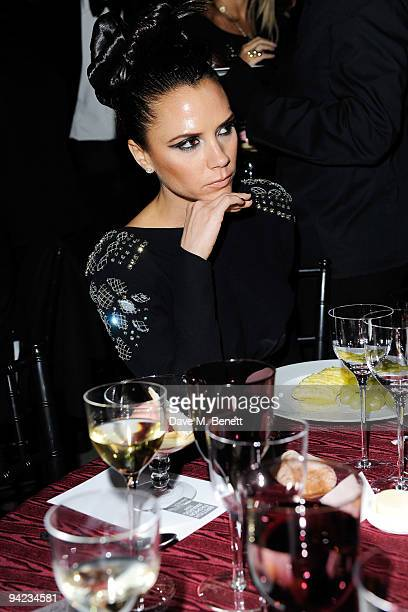 Victoria Beckham attends the British Fashion Awards at the Royal Courts of Justice Strand on December 9 2009 in London England