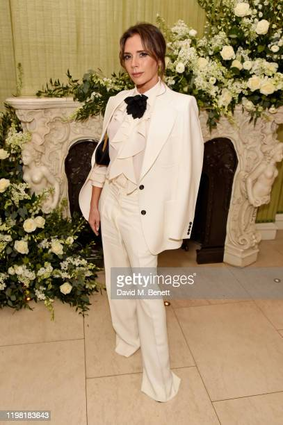 Victoria Beckham attends the British Vogue and Tiffany Co Fashion and Film Party at Annabel's on February 2 2020 in London England